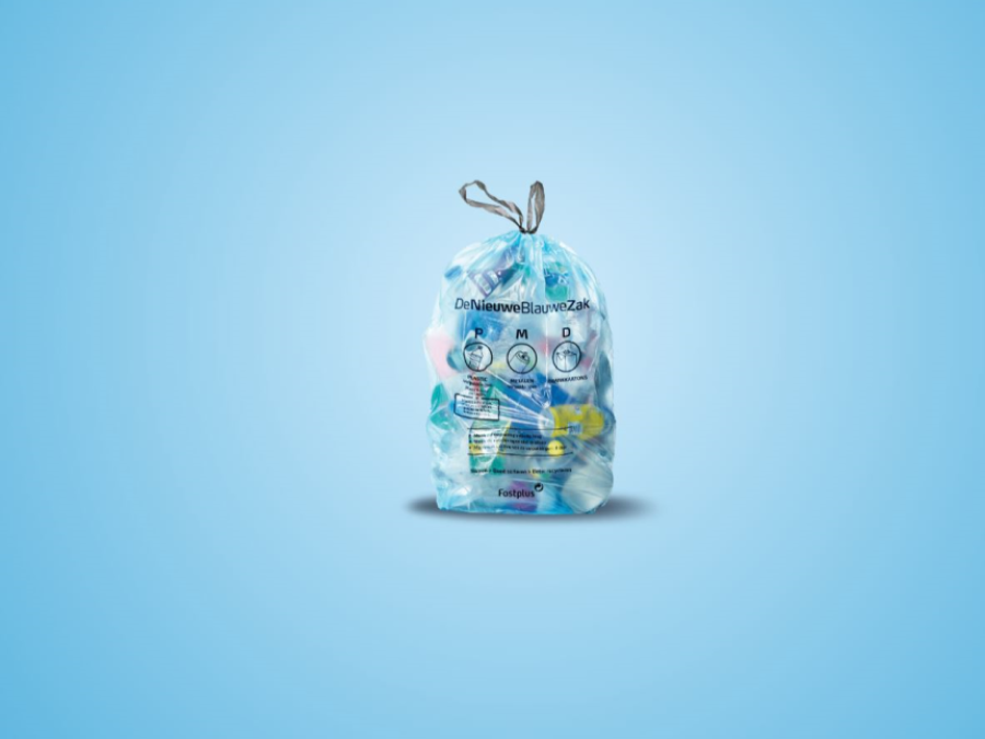 De nieuwe blauwe zak is er!