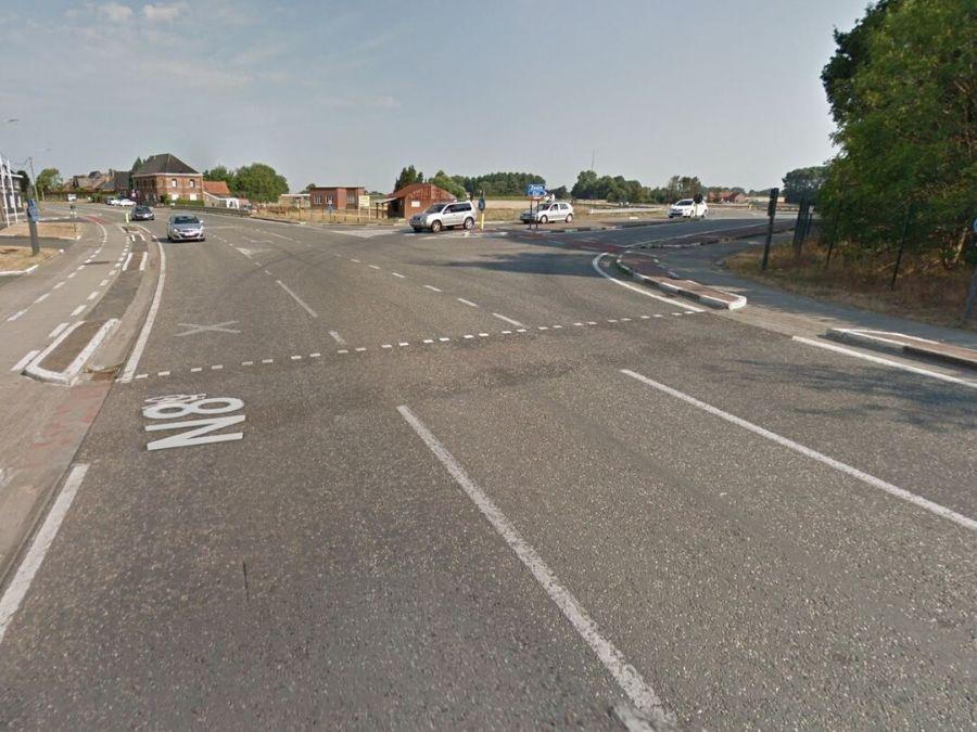 Werken aan kruispunt N8 en N415 in Brakel